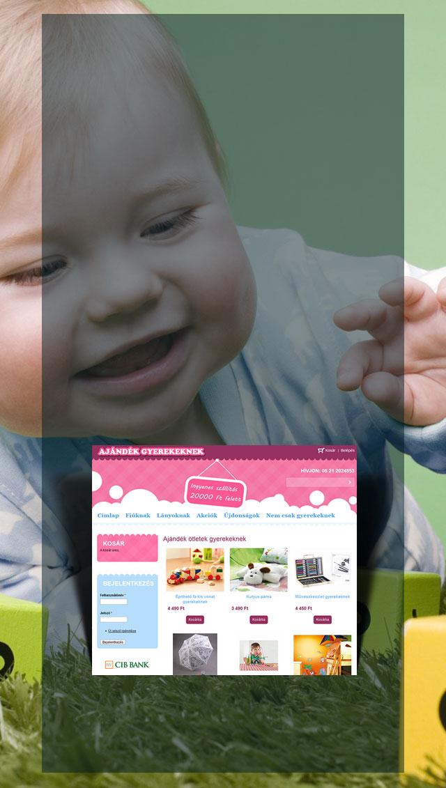 Ajándék gyerekeknek webáruház