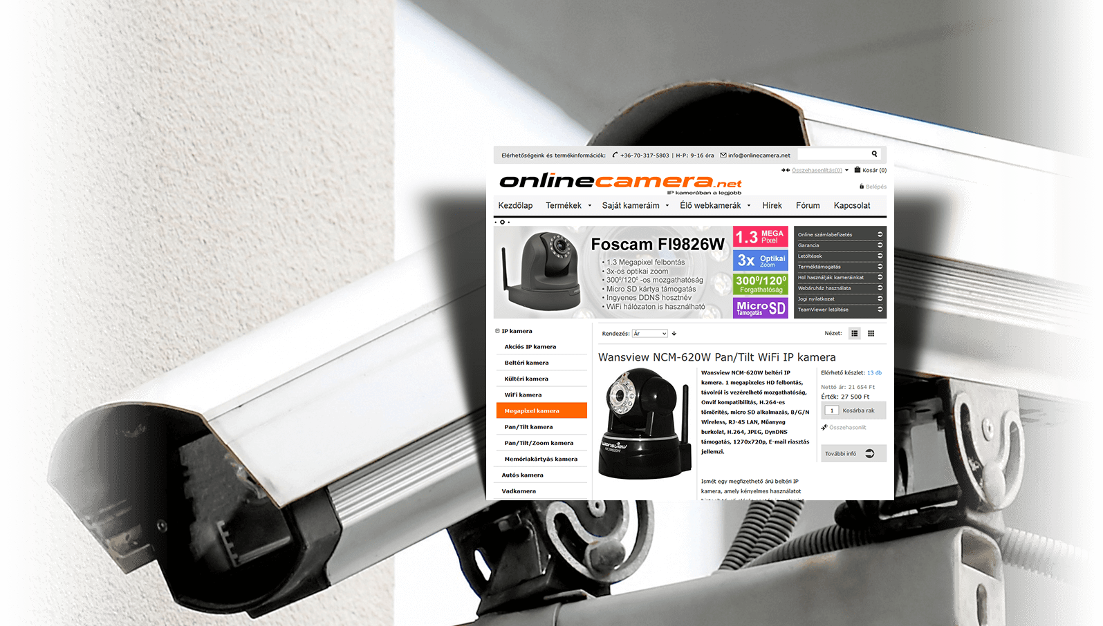 Onlinecamera webáruház